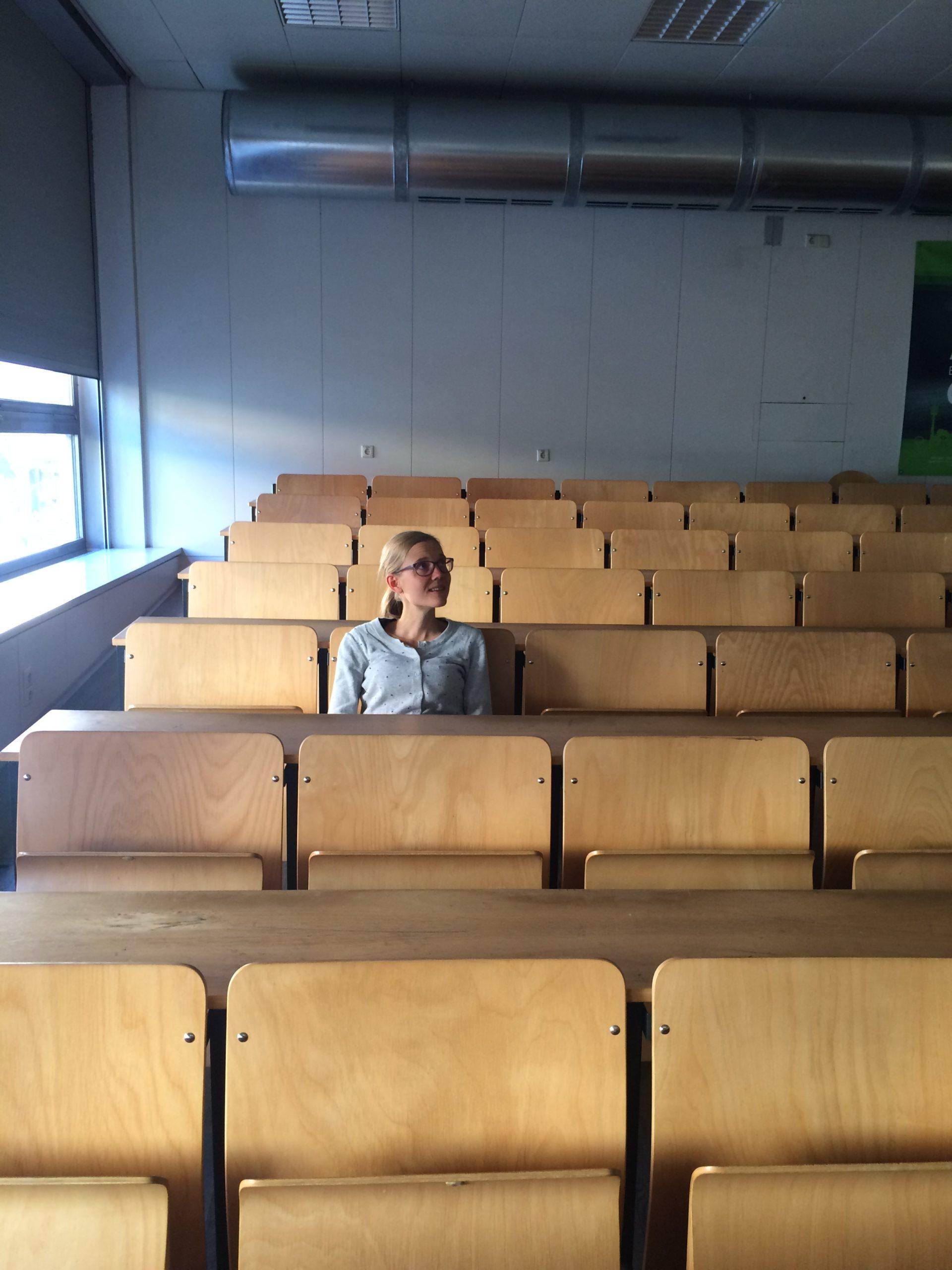 Anna beim Vortrag